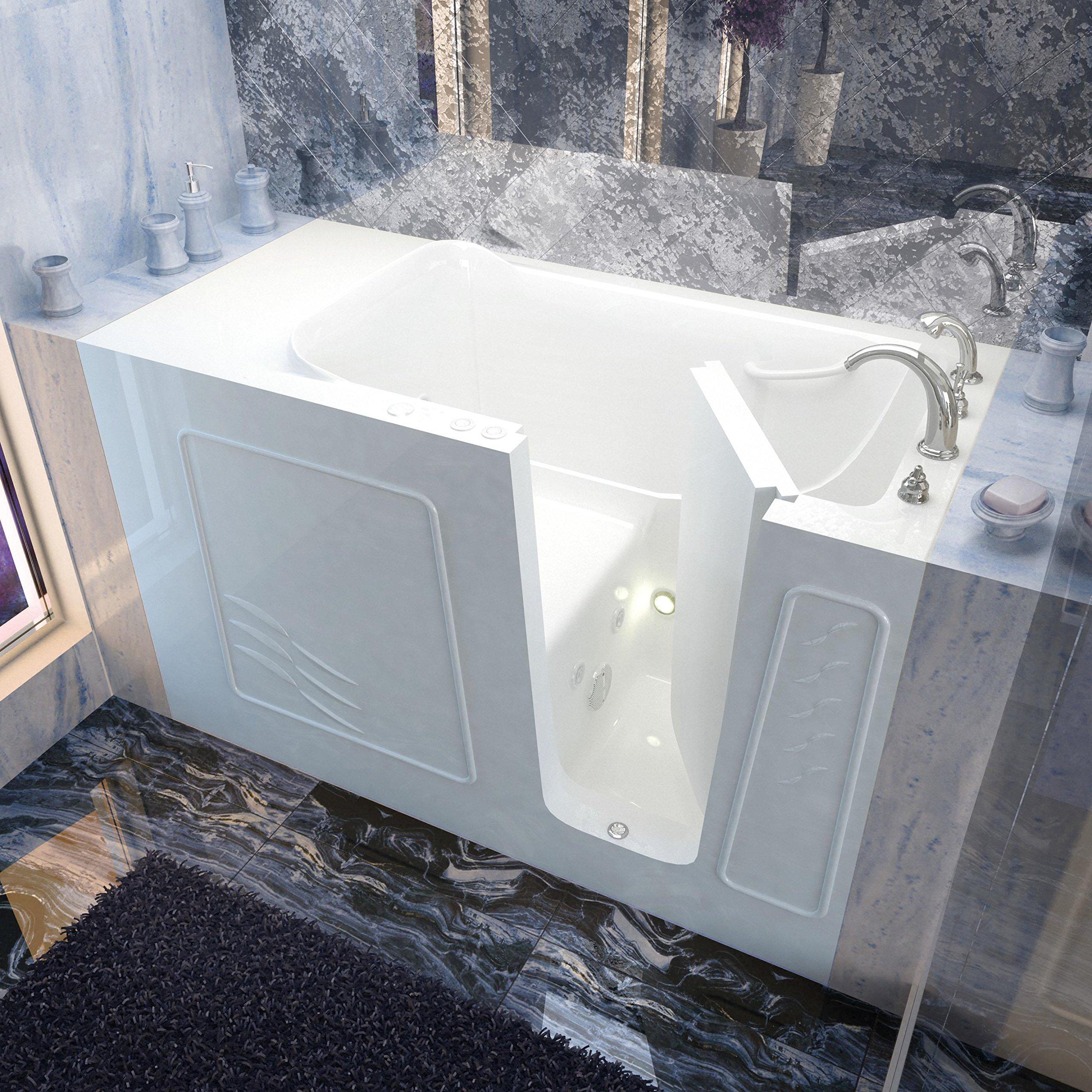 Spa World Venzi Vz3060wirwh Rectangular Whirlpool Walk-In Bathtub, 30x60, Right Drain, White