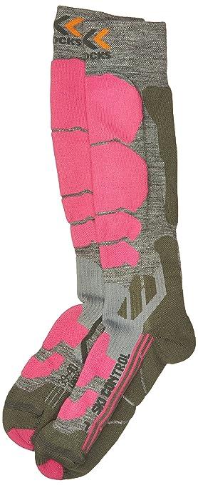 X-Socks Control – Calcetines de esquí para Mujer, Mujer, Color Gris/