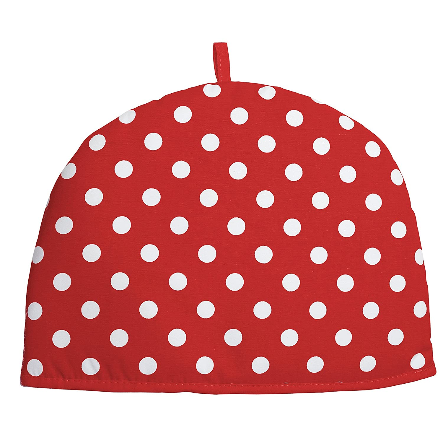 Rushbrookes by Dexam Red Flamenco Spot Cotton 2 Cup Tea Cosy 16163760 by Dexam