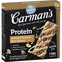 Carman's Salted Caramel Nut Butter Gourmet Protein Bars, 5-Pack (200g)