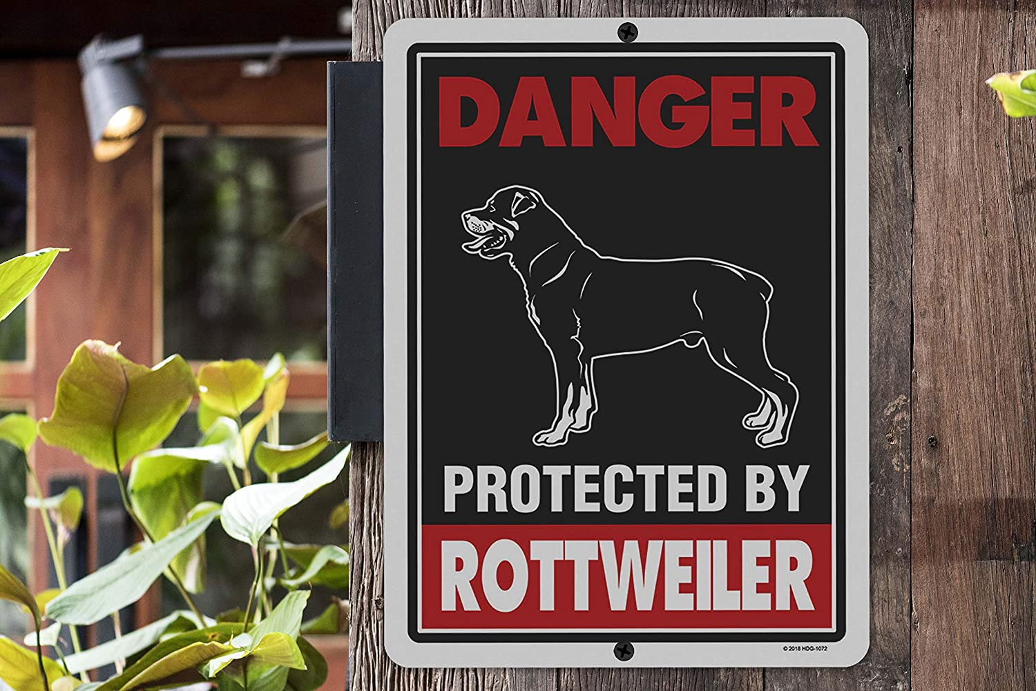 Home, Furniture & DIY 2 Count Warning Property Protected by a Boxer Laminated Dog Sign w/ Decal