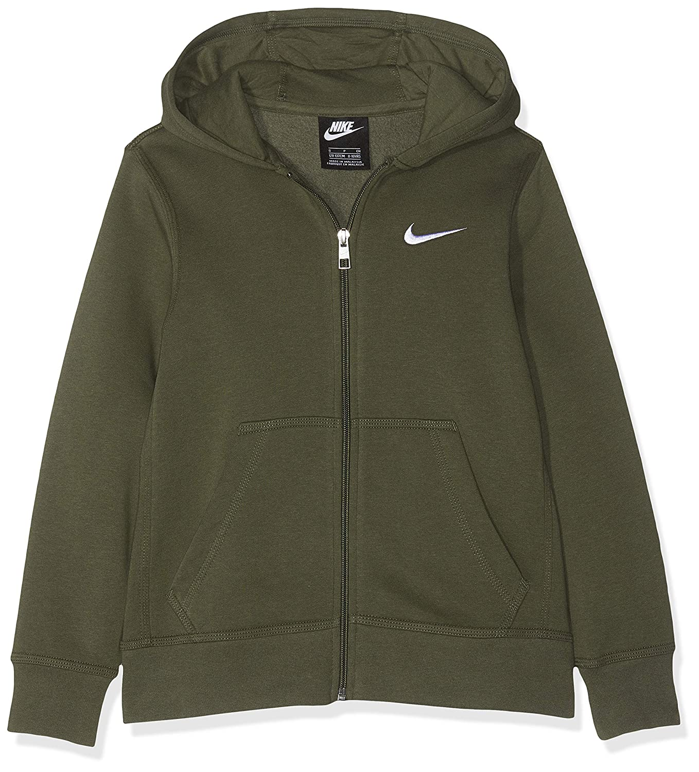Amazon.com: NIKE Brushed Fleece Full-Zip (8y-15y) Older Boys Hoodie: Sports & Outdoors