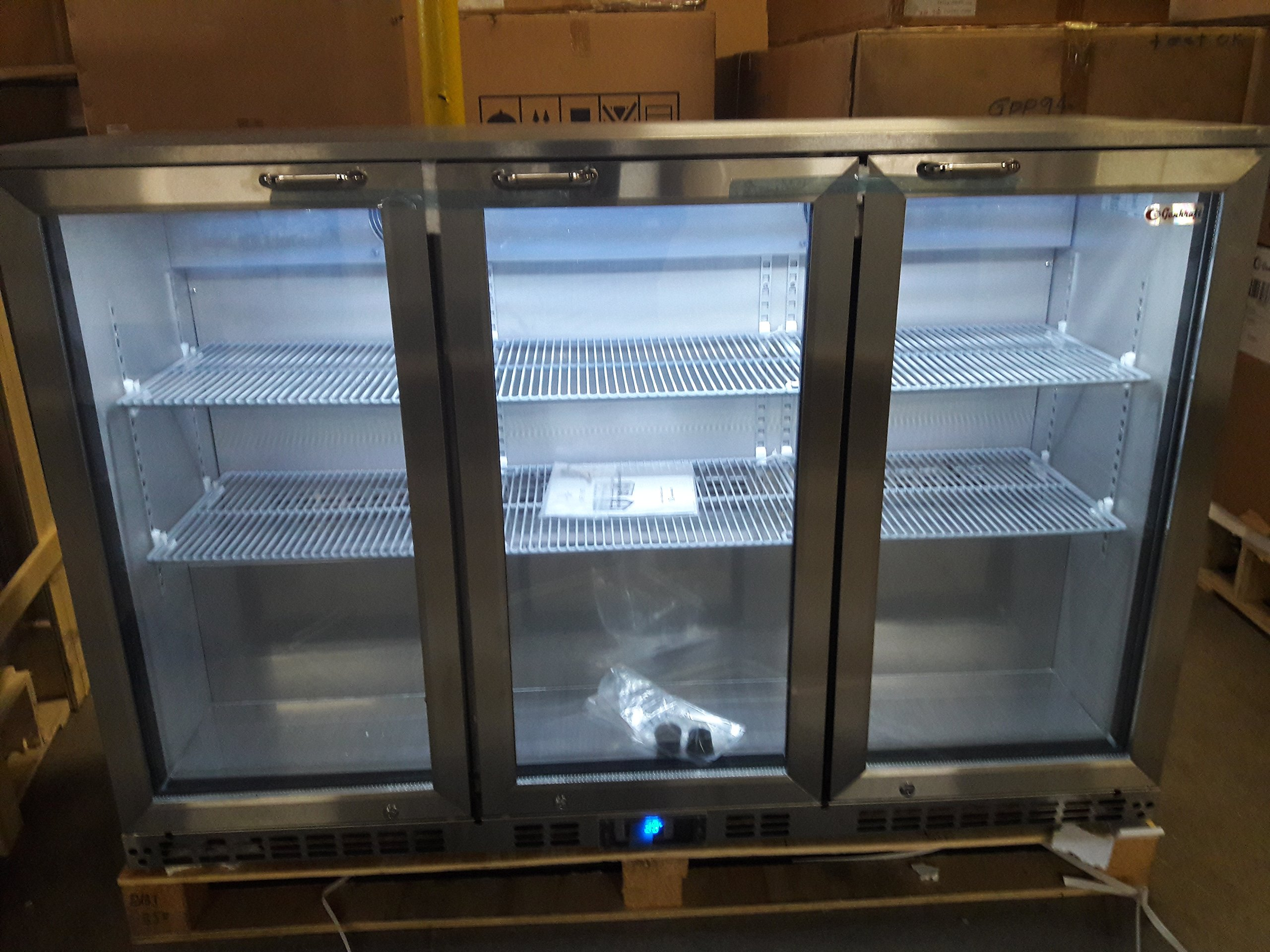GenKraft Commercial Back Bar Cooler, 53.5 inch Stainless Steel, - For use in the Stores & food service industry such as restaurants, bars, food catering, etc.