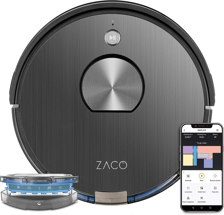 ZACO - robot aspirateur A10, WiFi, connecté Alexa, Google et appli -...