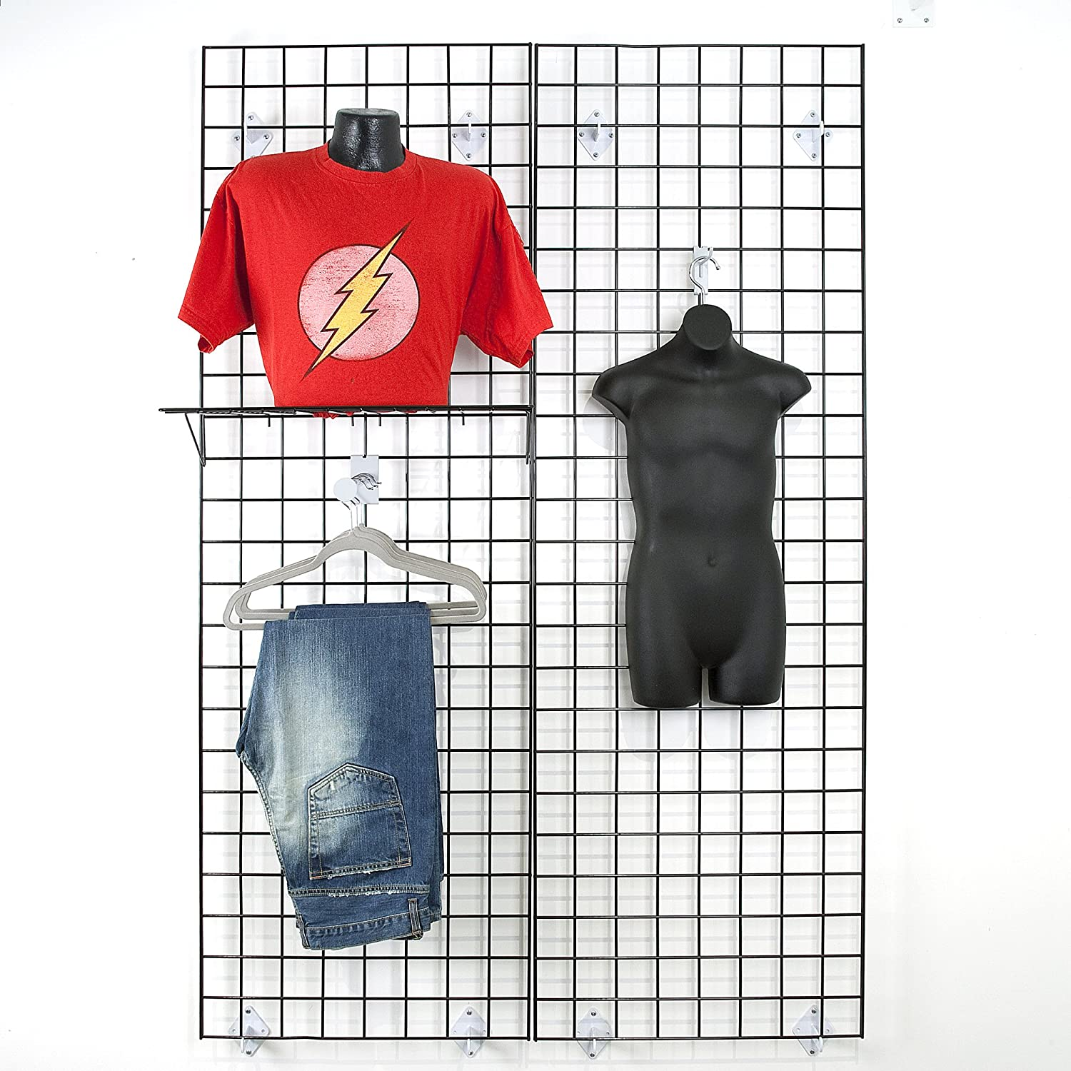 Amazon.com: Grid Panel for Retail Display – Perfect Metal Grid for ...