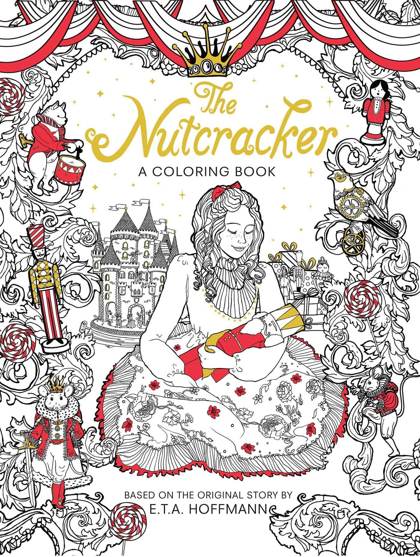 Nutcracker: A Coloring Book (Classic Coloring Book): Alexandre Dumas, E. T.  A. Hoffmann: 9781684123810: Amazon.com: Books