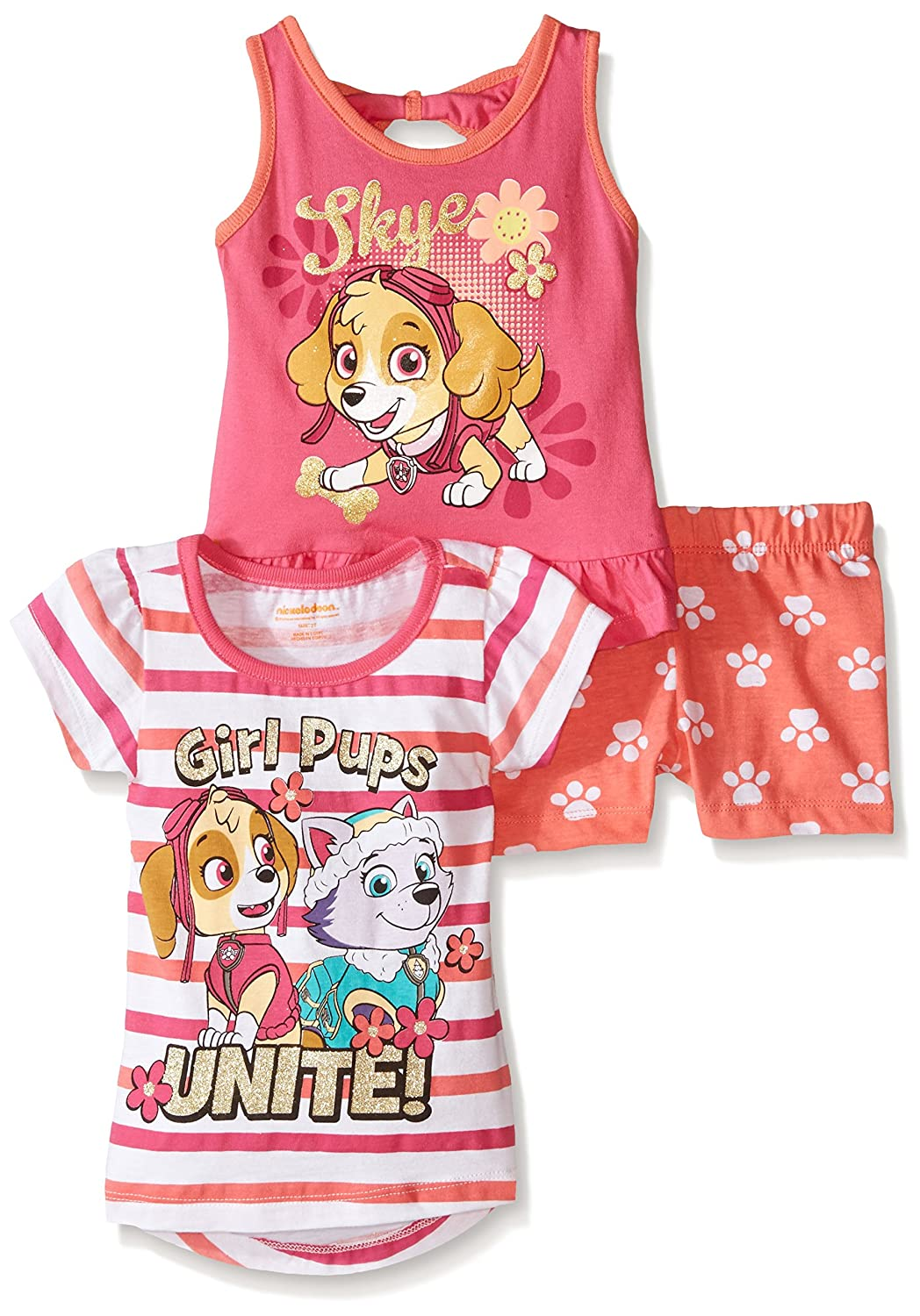 Paw Patrol  Baby Girls' 3pc Top and Short Set, Pink, 12 Months CAN Character Children' s Apparel 4nw5719