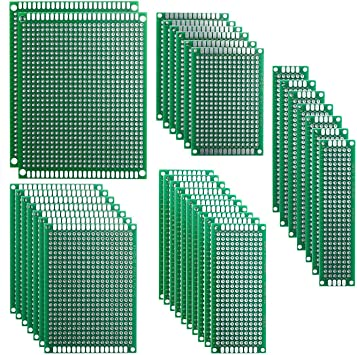 New 32 Pcs PCB Double Sided Board Prototype Kit for DIY Soldering with 5 Sizes