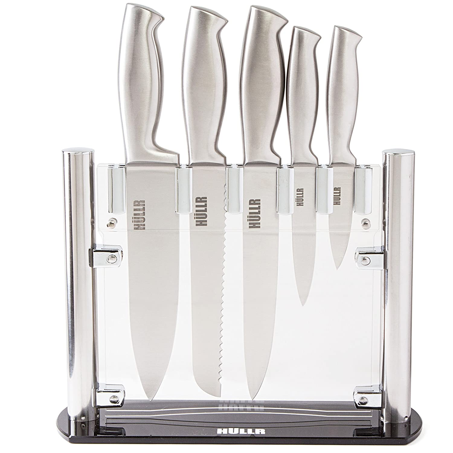 Amazon.com: HULLR Stainless Steel Kitchen Knife Set With Acrylic ...
