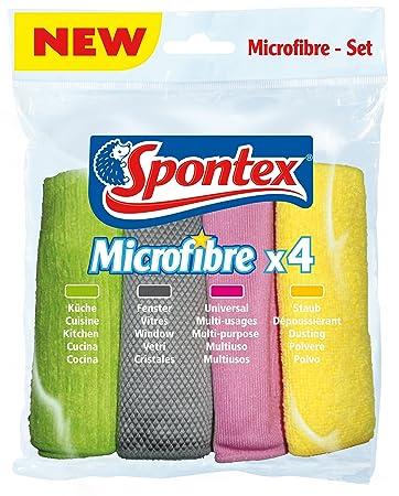Vileda Microfaser Allzwecktuch Putztuch Staubtuch 4 Stück Microfibre