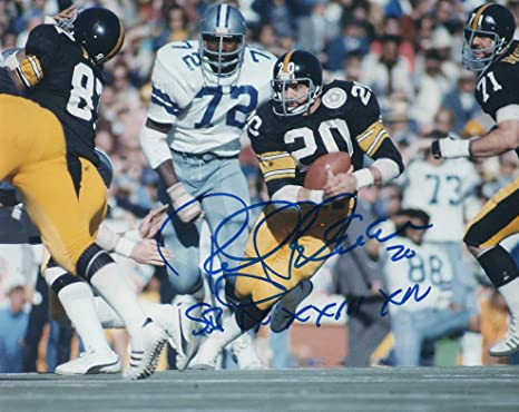 b48ecfbaf Autographed Rocky Bleier Pittsburgh Steelers 8x10 Photo at Amazon s ...