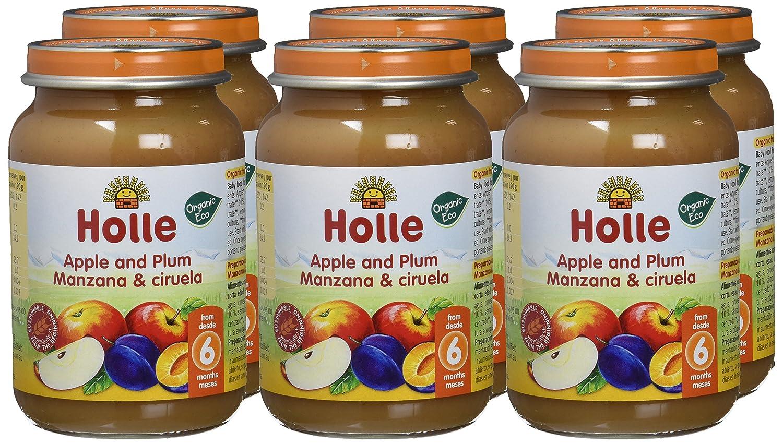Holle Potito de Manzana y Ciruela (+6 meses) - Paquete de 6 x 190 gr - Total: 1140 gr: Amazon.es: Alimentación y bebidas