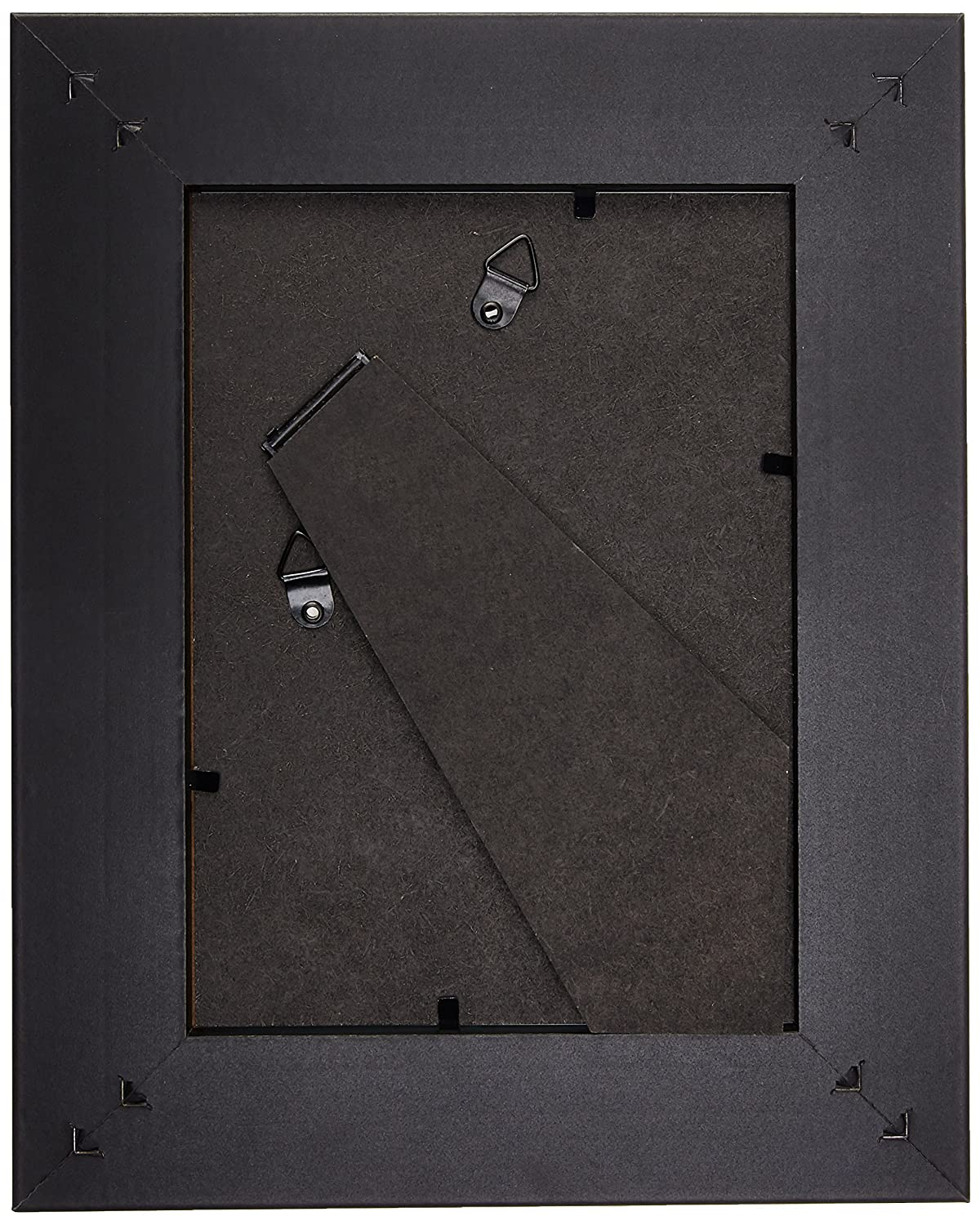 EDGEWOOD Lakewood 4pcs wide bevel black photo frame sets with mat and removable easel 5x7 inch Black FBA/_1079102107