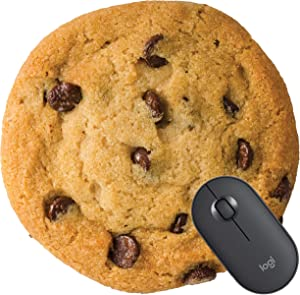 Giant Chocolate Chip Cookie,Circle Non-Slip Rubber Mouse Pad, Mouse Pad,Funny,Coworker Gift Teacher Gift,Food Mouse mat