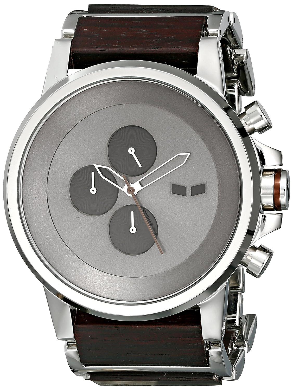 Vestal Men s PLWCM001 Stainless Steel and Plexi Wood Watch