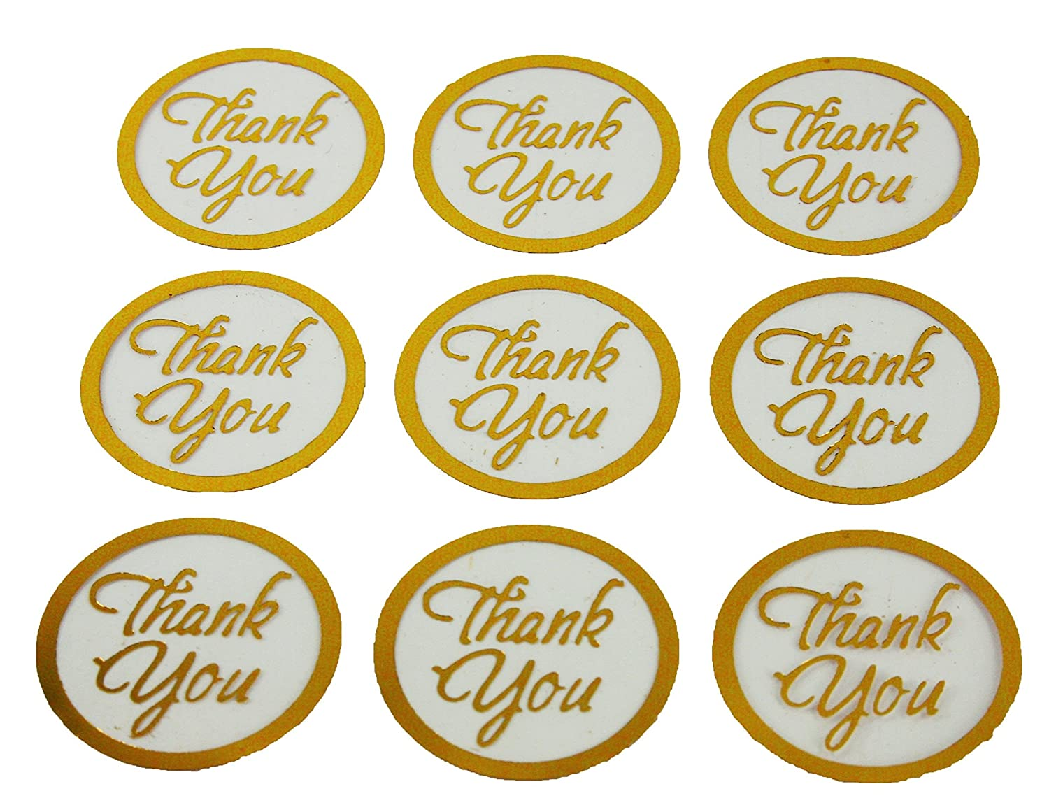 Amazon com 100 gold thank you print with clear background wedding round envelope seal stickers 1 inch diameter