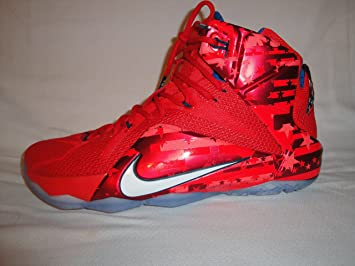 dbd1c2c43924a Mens Nike Lebron XII USA Independence Day White Crimson Blue 684593-616 US  12