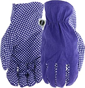 West Chester Miracle-Gro MG56110/WML Canvas Gloves,purple,Medium