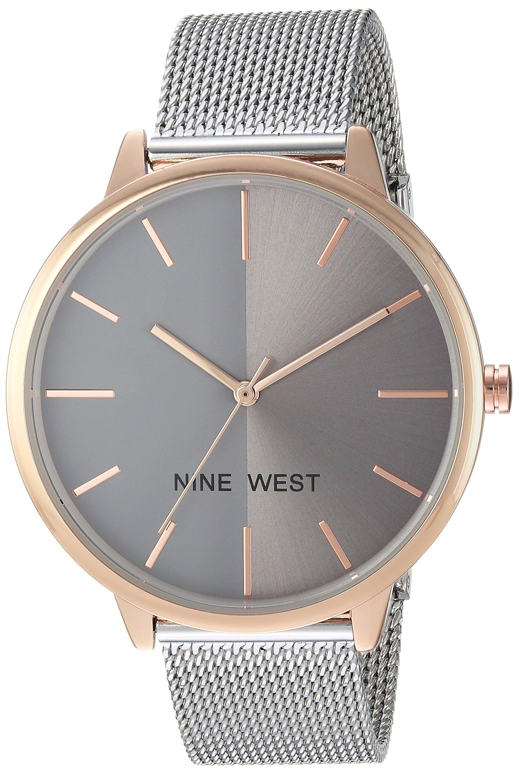 Nine West Women's NW/1981GYRT Silver-Tone Mesh Bracelet Watch by Nine West