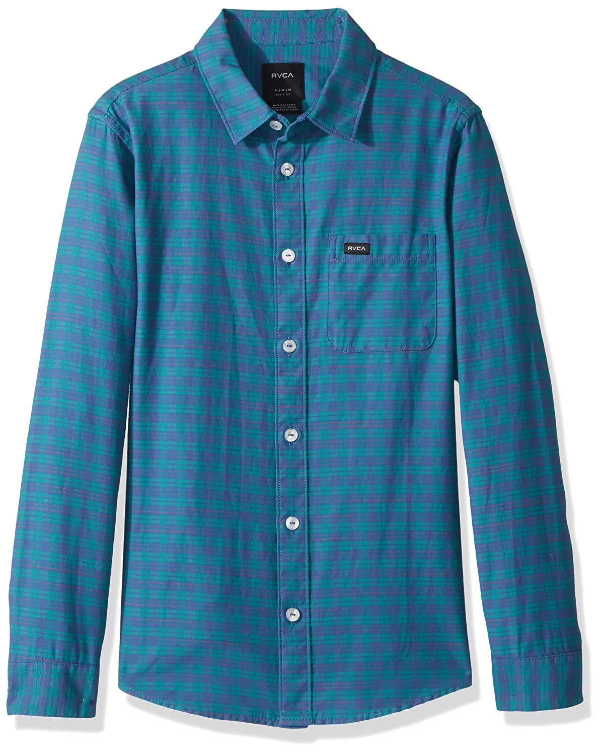 RVCA Boys' Big Delivery Long Sleeve Woven Shirt