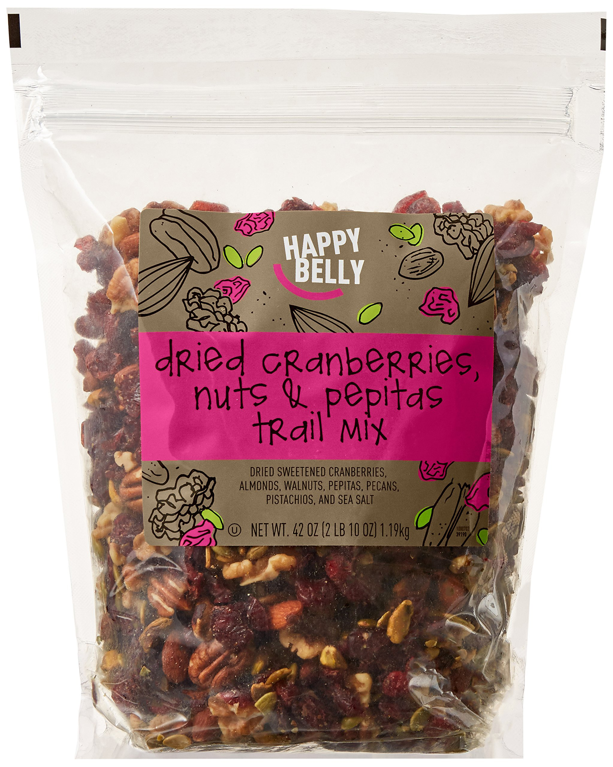 Amazon Brand - Happy Belly Dried Cranberries, Nuts & Pepitas Trail Mix, 42 ounce by Happy Belly (Image #1)