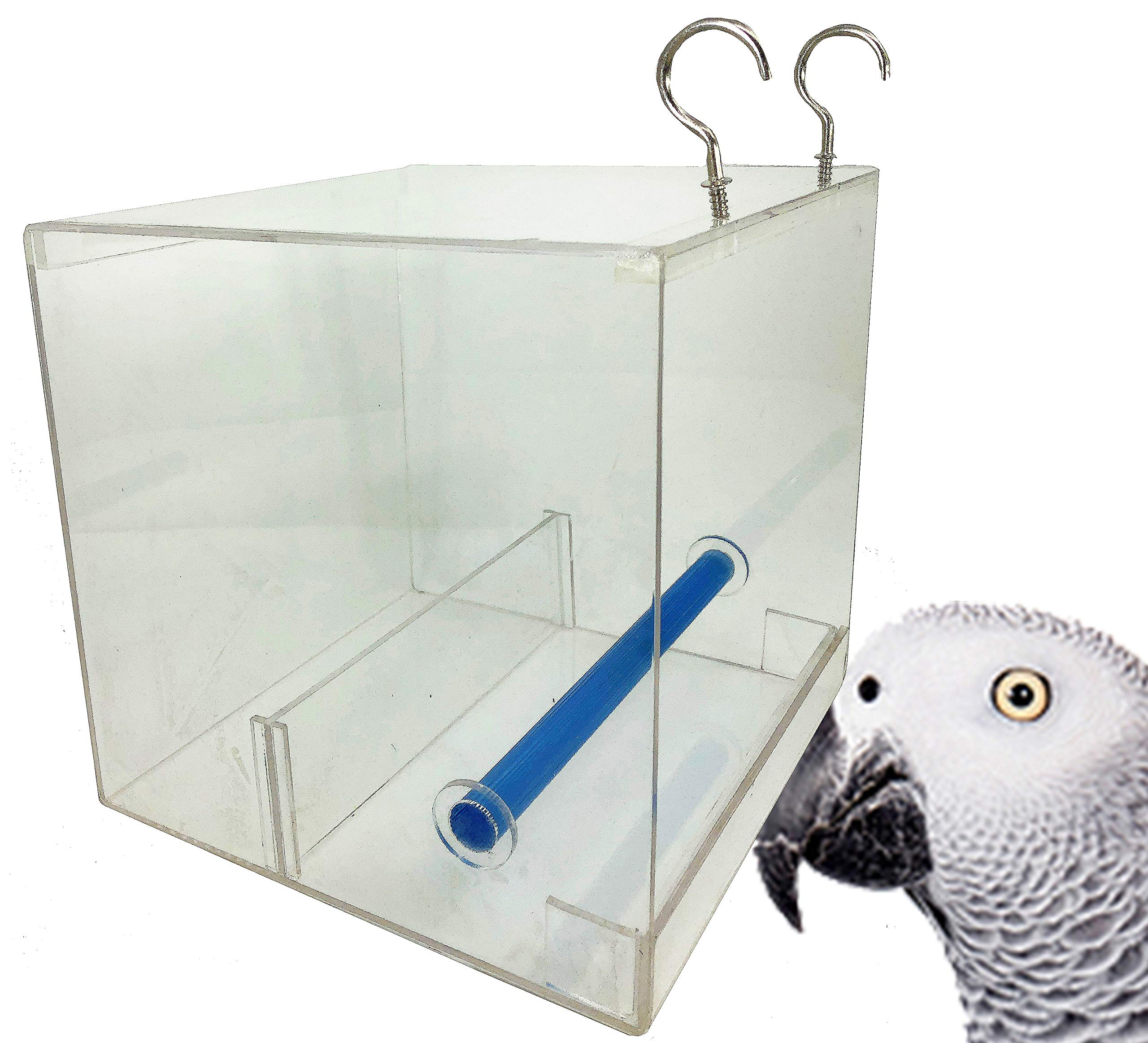 LARGE TWEEKY CLEAN Seed Bird Feeder parrot toy toys african grey amazon tidy by Bonka Bird Toys