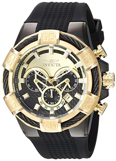 INVICTA Bolt Reloj DE Hombre Cuarzo Correa DE Silicona Caja DE Acero 24699: Amazon.es: Relojes