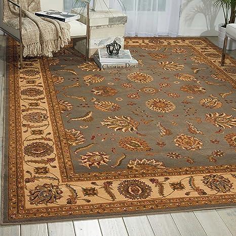 Amazon.com: Nourison Paramount 9 Azul área alfombra: Kitchen ...