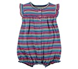 Carter's Baby Girls' Multi Striped Snap up Cotton