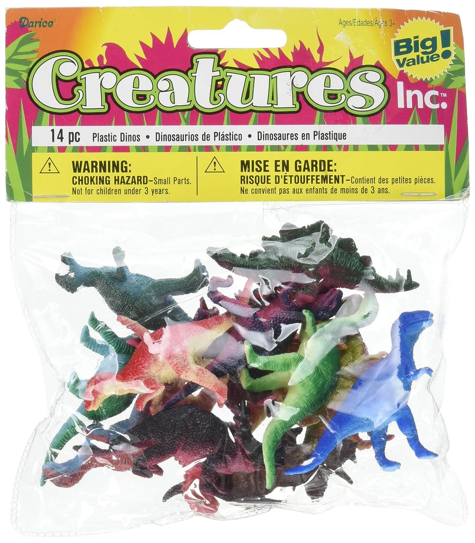 Dinosaurs 14//Pkg FBA/_1029-09 Darice Creatures Inc Plastic Creatures
