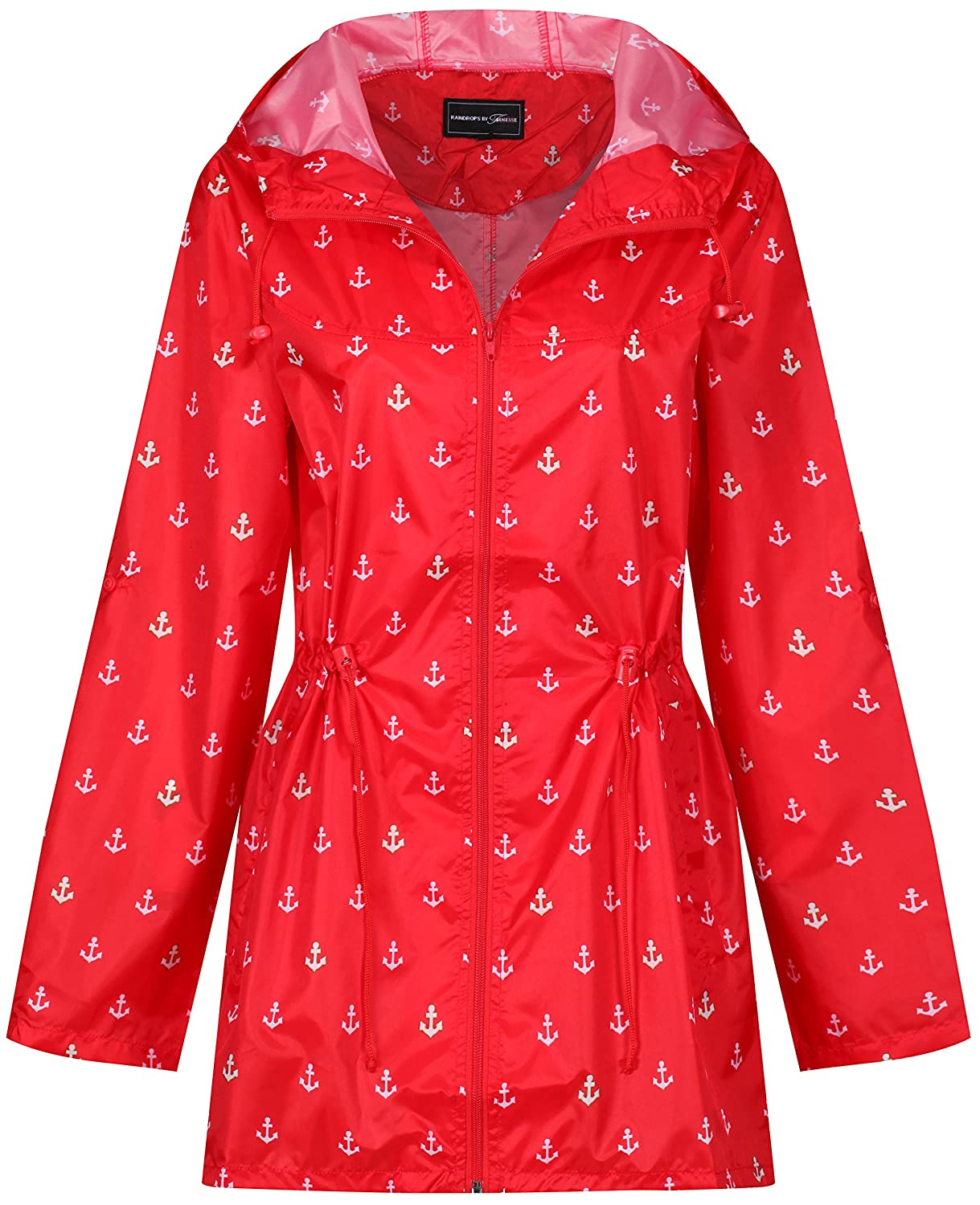 TALLA M. Raindrops by Finesse - Abrigo Impermeable - para Mujer