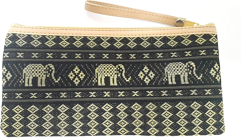 Dumbo Elephant handmade zipper fabric coin change purse card holder
