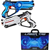 LEGACY Laser Tag Set for Kids, Battle Pack (2 Blasters) - With Collectible Storage Case