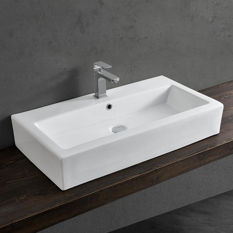 ® Waschbecken rund Waschschale Ø42cm Glas Waschtisch Aufsatzbecken Bad neu.haus