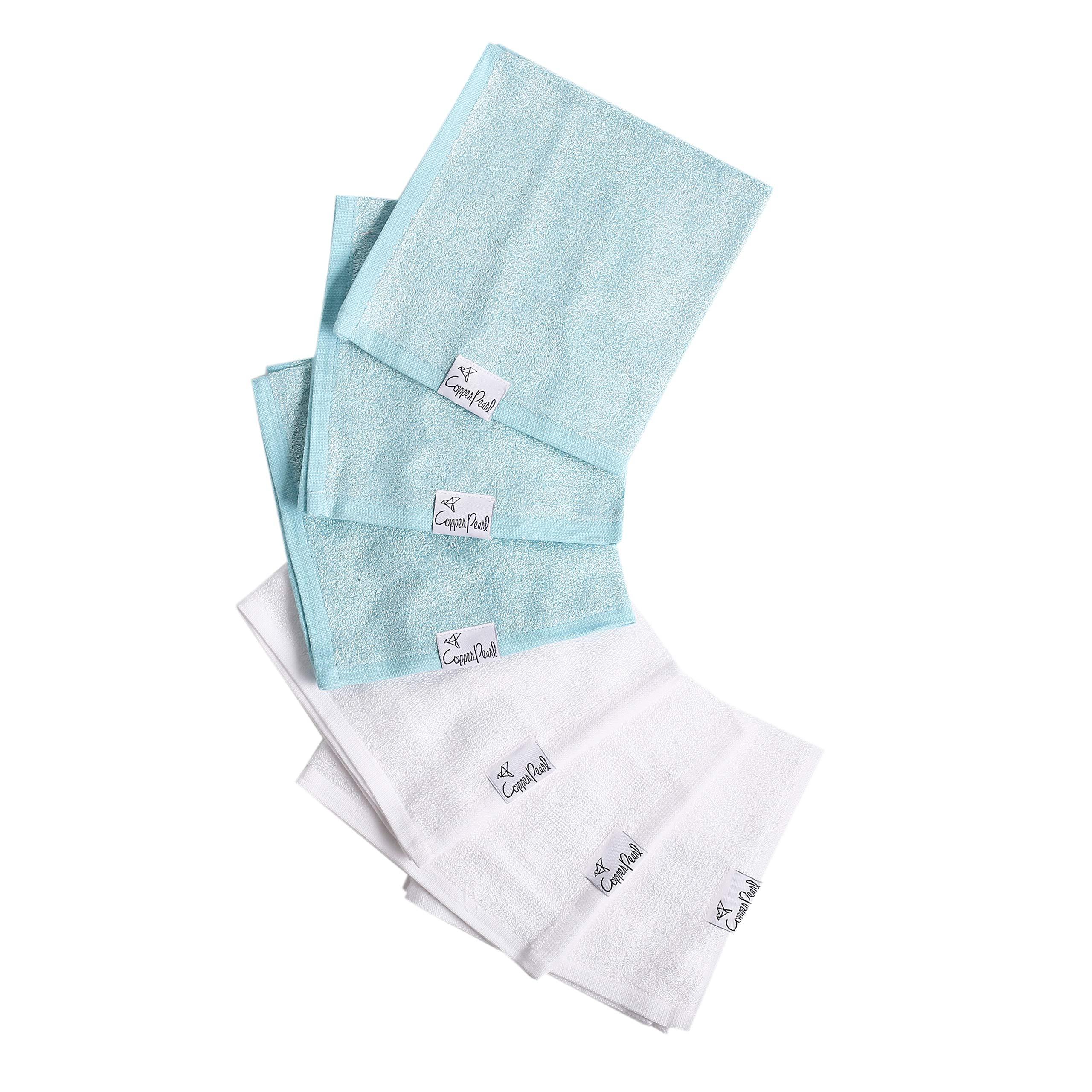 6 Ultra Soft Baby Bath Washcloths Premium Large