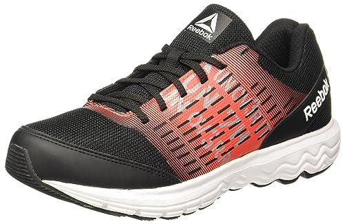 899150d37 Reebok Men s Dual Dash Run Lp Blk Carotene Flat Grey Running Shoes - 7
