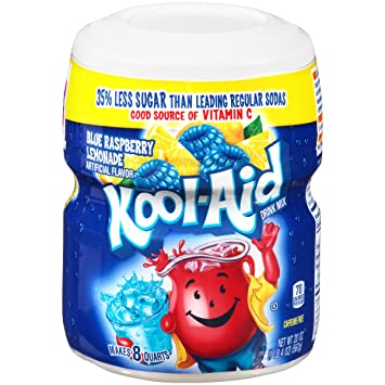 Kool-Aid Ice Blue Raspberry Lemonade Drink Mix (20 oz Canister)