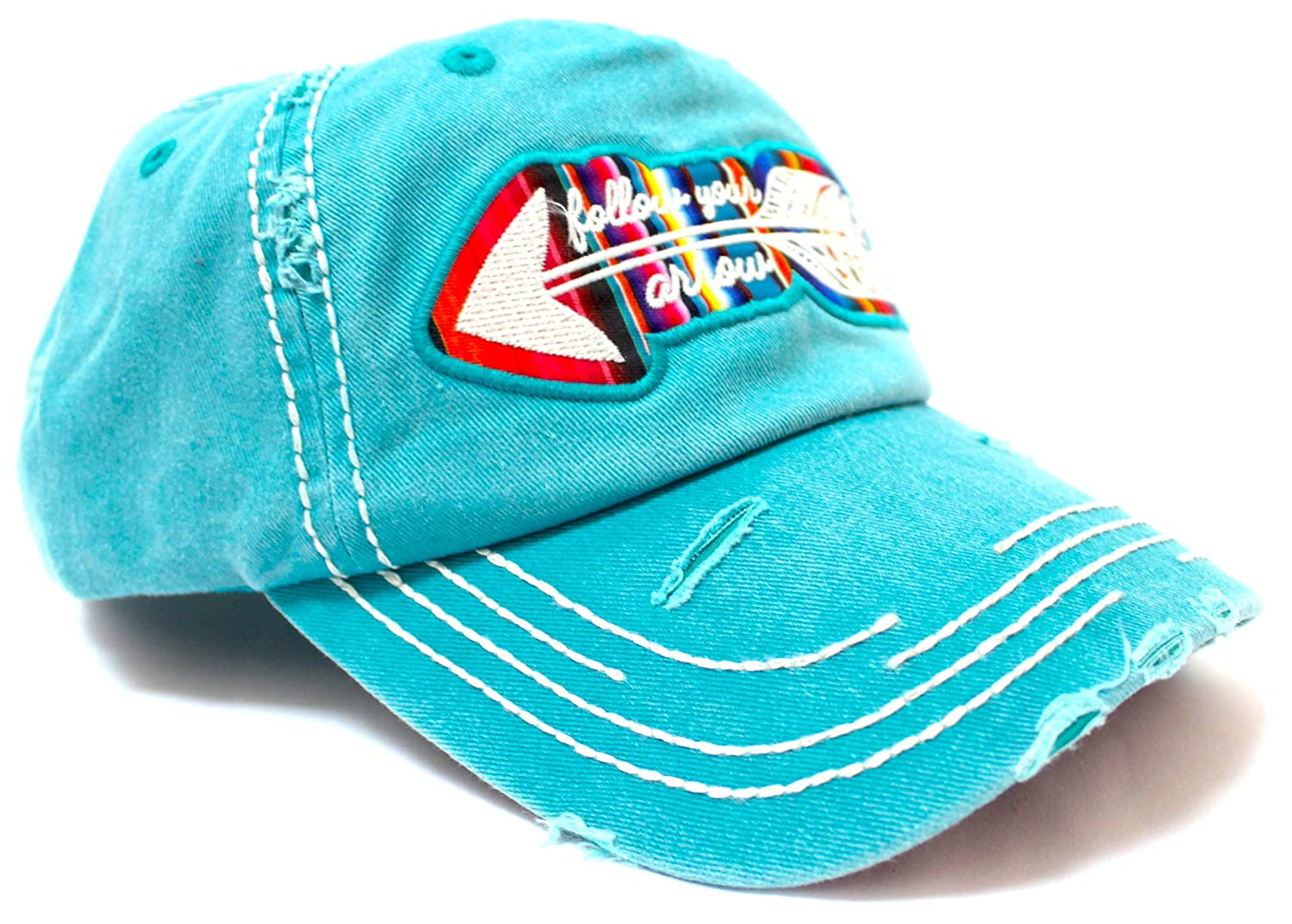 35a67a9455d6d Women s Cap Follow Your Arrow Serape Embroidery Hat