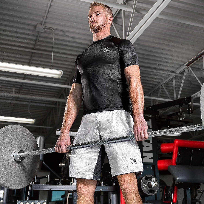 Hayabusa Mens Hexagon Board Style Workout and MMA Training Shorts