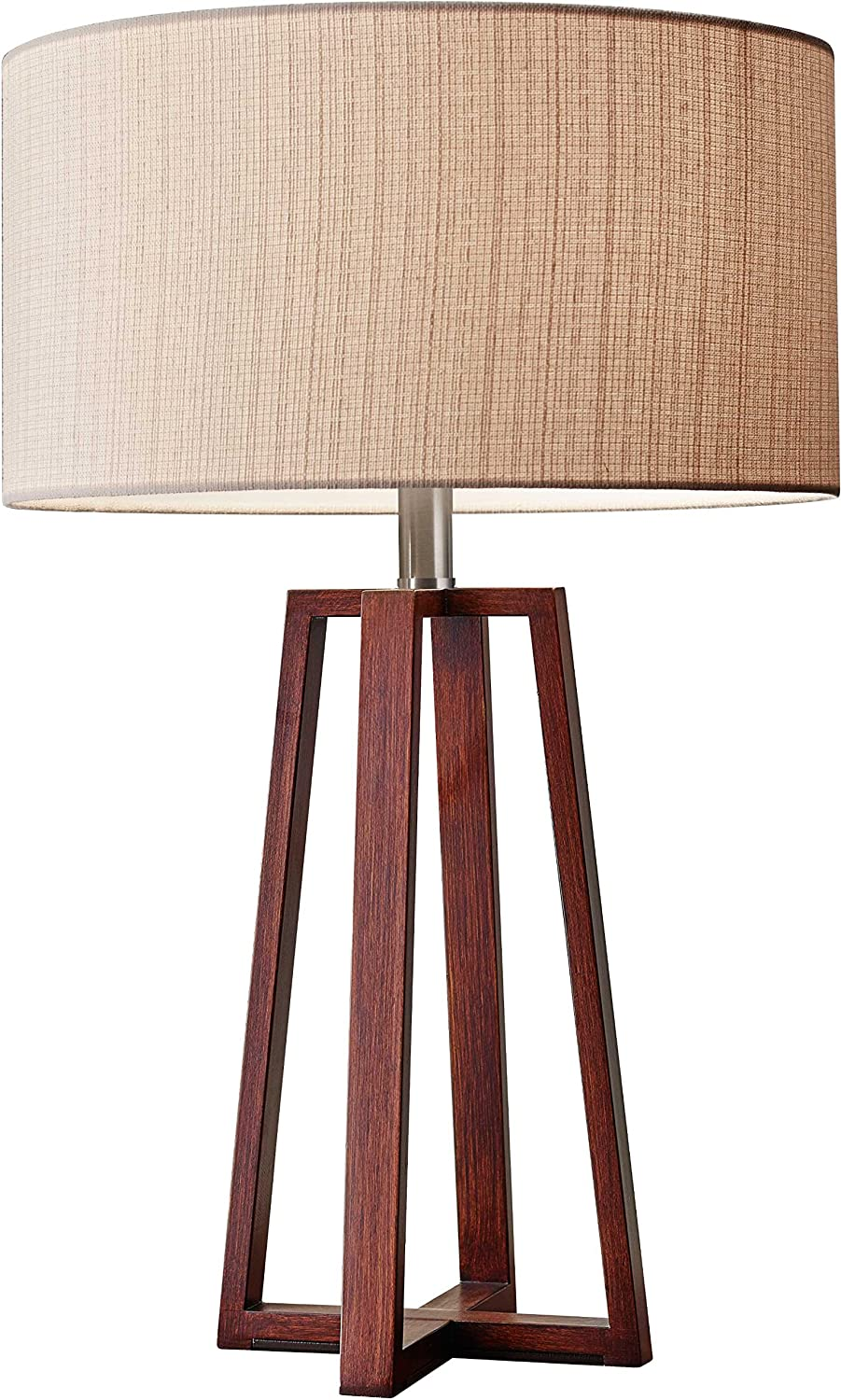 Amazon adesso 1503 15 quinn 2375 table lamp walnut smart amazon adesso 1503 15 quinn 2375 table lamp walnut smart outlet compatible home improvement geotapseo Image collections