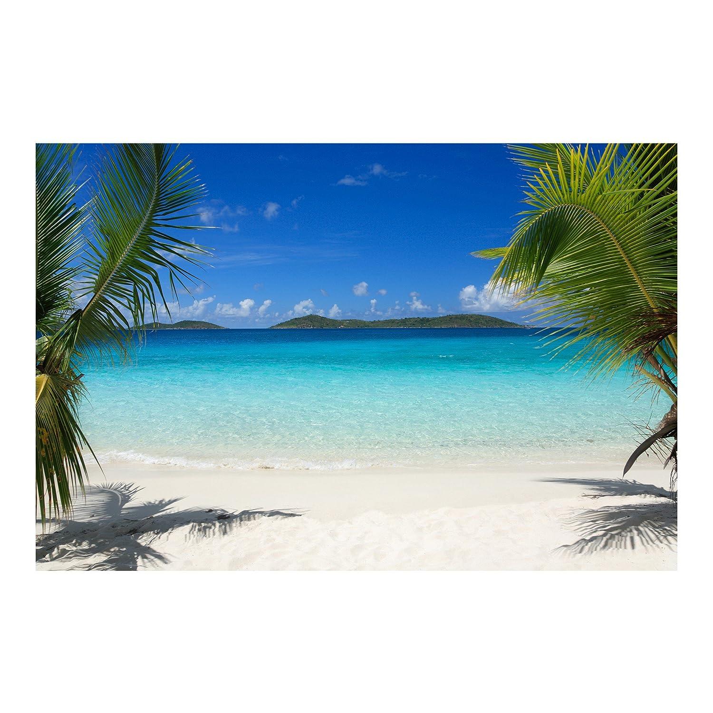 Vliestapete - Perfect Maledives - Fototapete Breit Vlies Tapete Wandtapete Wandbild Foto 3D Fototapete, Größe HxB  225cm x 336cm