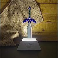 The Legend of Zelda Lamp Master Sword zilvergrijs, schacht meerkleurig, werkt op batterijen of USB-aansluiting, in…