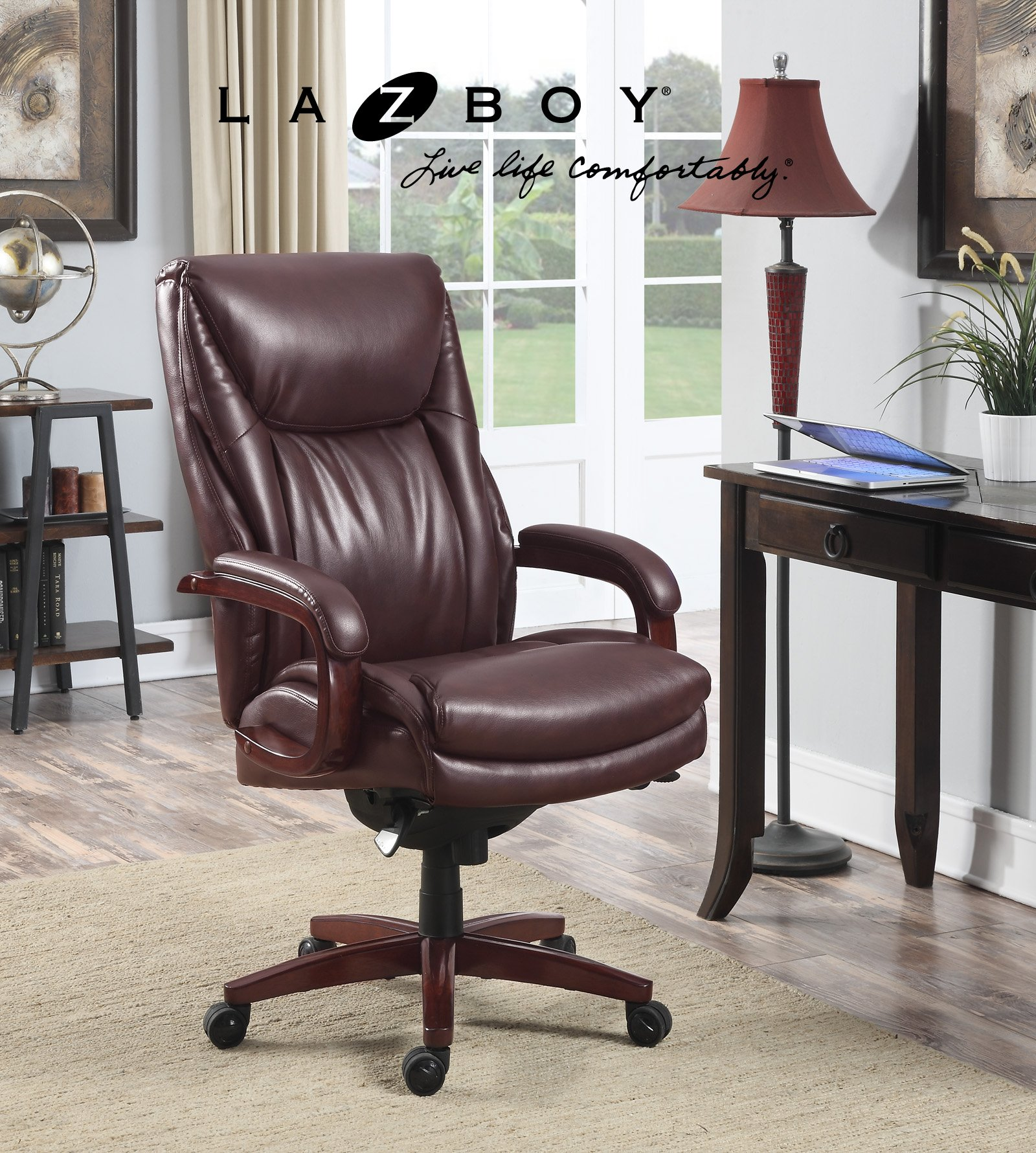 La Z Boy Edmonton Bonded Leather Office Chair, Coffee Brown by La-Z-Boy