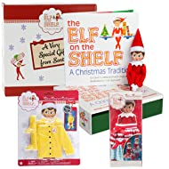 Elf on the Shelf Blue Eyed Girl Dress Up Set - Two Twirling Skirts And Elf Raincoat - In Specialty North Pole Gift Box