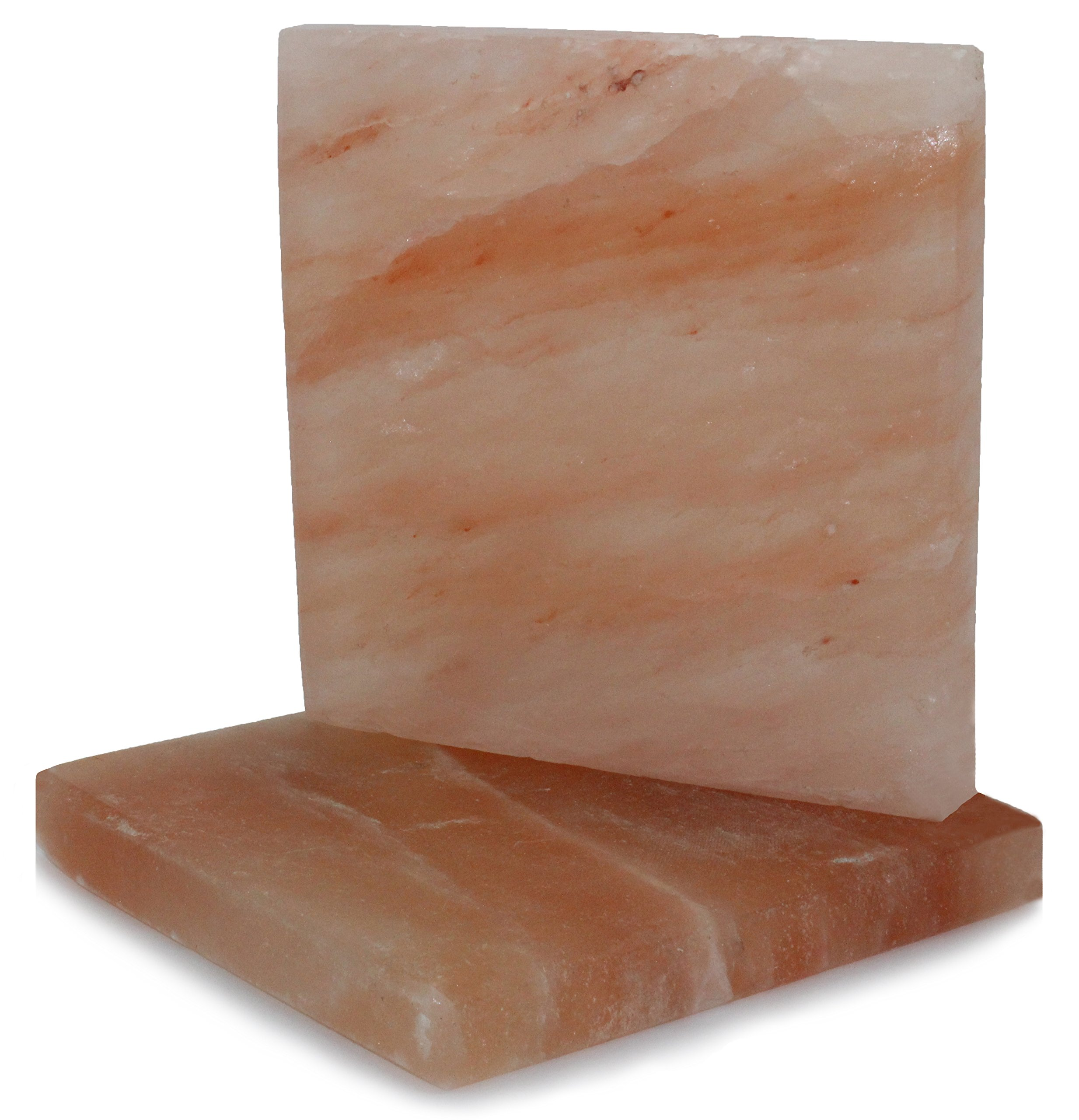 IndusClassic SSP-07 Himalayan Salt Block, Plate, Slab for Cooking, Grilling, Seasoning, And Serving (8X8X1 Set of 2) by Indus Classic
