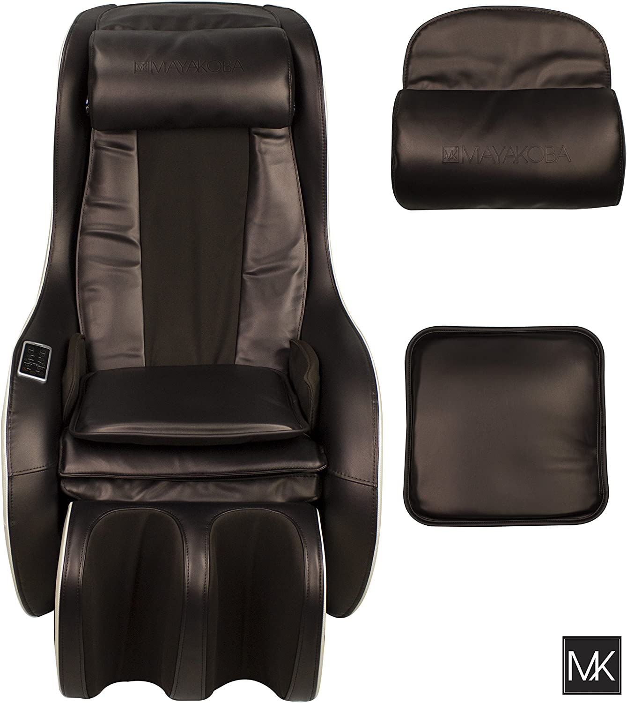 MAYAKOBA Full Body Shiatsu Massage Chair Zero Gravity Recliner Kneading, Knocking Compact Massage Chair with USB, Bluetooth and Speakers