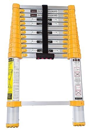 Vestil TLAD-12 Escalera telescópica de aluminio, capacidad de 225 libras, cerrada de 19 1/4 pulgadas de ancho x 32 pulgadas de alto x 3 1/2 pulgadas de profundidad: Amazon.es: Industria, empresas y ciencia