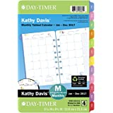 """Day-Timer Planner Refill 2017, 2 Page Per Month, 5-1/2 x 8-1/2"""", Unruled, Desk Size, Kathy Davis (52132)"""