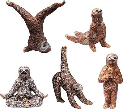 Yoga Sloth Figurines