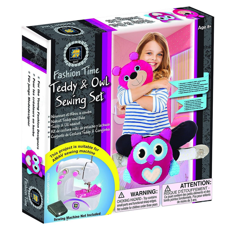 AMAV Toys ファッション タイムテディ&フクロウ 裁縫セット アートクラフト   B077CXZJNH